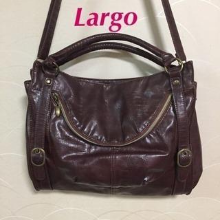 A【Largo】ラルゴ 2WAYショルダーバッグ ダークブラウン