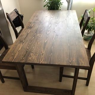 9/10優先 食卓テーブル ダイニングテーブル チェアセット 4人...