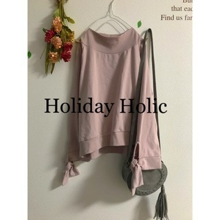 ☆Holiday Holic☆ホリデーホリック リボンスリーブカットソー