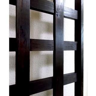 飾り格子 レトロ調の木組み (別途手間賃でお届けも応相談)