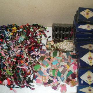 手芸絹糸綿糸カタン糸大量