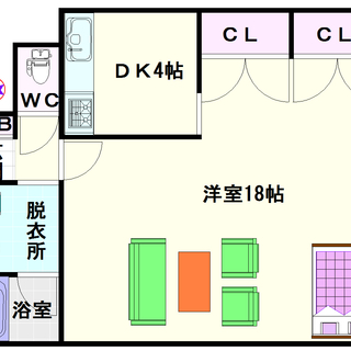 【ノアーズアーク桜川】B号タイプ!1Kタイプ!2LDKクラスの広さ...