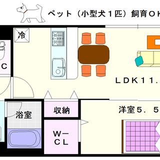 【ステラ桜川】3号タイプ!1LDKタイプ!全戸南向きで日当たりがいぃ~!