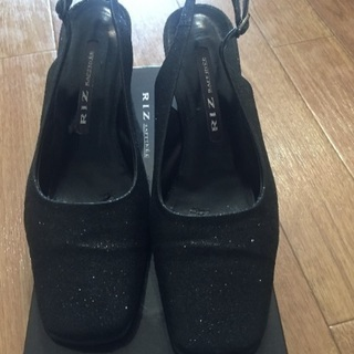 Rizリズのバックベルト靴と神戸Deux製バックベルト靴24.5...