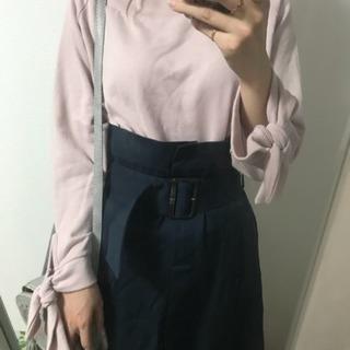 タグ付き・新品☆ベルト付きハイウエストチノロングスカート☆