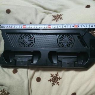 PS4用USB冷却ダブルファン❗️コントローラー充電ステーション...