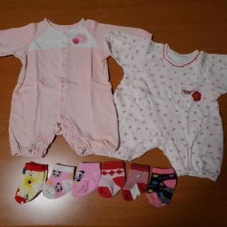 出産準備に♪新生児50~60サイズロンパース&靴下セット