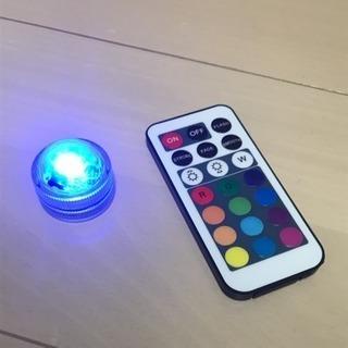 リモコン式12色水中LEDライト