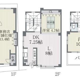 ■申込中■☆薬院駅徒歩1分☆店舗・事務所+3LDK☆100㎡越え☆...