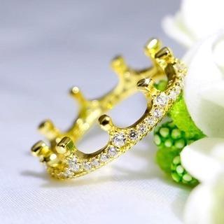 新品 未使用 シルバー925 ゴールドメッキ 指輪定価 5000円 リングサイズ 12 - 服/ファッション