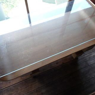 男前インテリア ガラステーブル センターテーブル