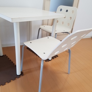 IKEA白テーブル★椅子セット★ダイニングセット