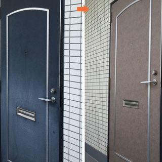 玄関ドアにダイノックシートを貼れる方募集