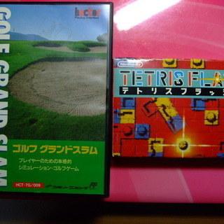 ◆最終値下げ!ファミコンソフト◆ゴルフグランドスラム/テトリスフラ...