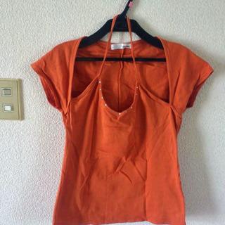 値下げ再投稿 ホルターネックのTシャツ