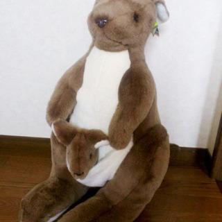 オーストラリア製 カンガルーのぬいぐるみLLサイズ(04・212)