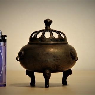 銅器三足香炉 H9.5㎝