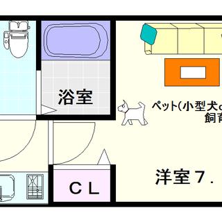 【メゾンキコー難波ミナミ】1Kタイプ!ペット(小型犬or猫)飼育可能!