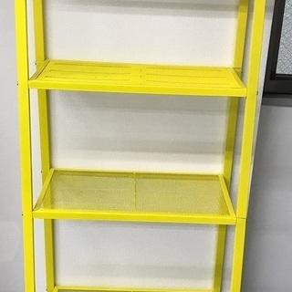 ※引き取り限定※ IKEAレールベリ シェルフユニット イエロー 2点の画像