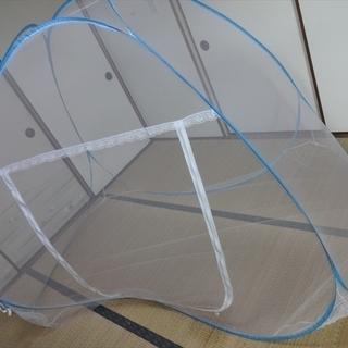 ポップアップテントタイプの 蚊帳 メッシュ 子供 収納袋 …