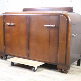 R97)イギリス アンティーク家具 木製 棚 サイドボード ワイ...