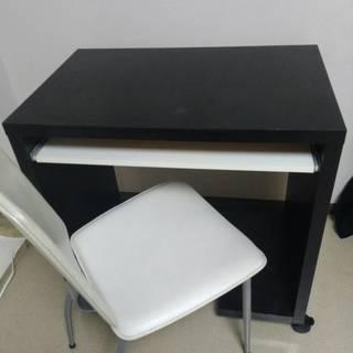 お買い得!オフィスデスク〈PCデスク〉&椅子セット(座布団…