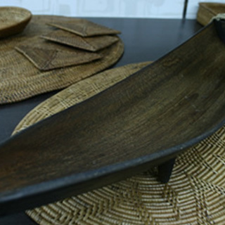 バリ島メイドのココナッツリーフのインテリアオブジェ-新品(在庫処分品)