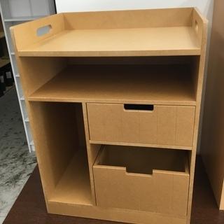 現状品!サイドチェスト 収納棚 電話台BOX ウッド 木製 箱 ボ...