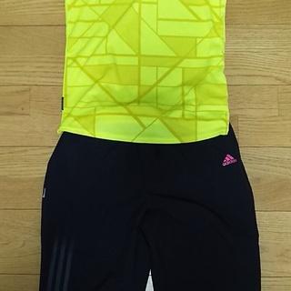 レディース adidas 吸汗速乾 アディダスのTシャツ(黄・M...