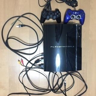 ジャンク プレステ3 60GB +コントローラー2つ その他付属品あり