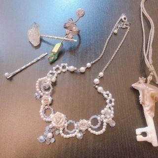 ネックレス、指輪、ヘアピン セット