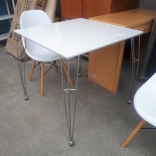 激安ダイニングテーブル3点セットホワイト 総合リユースsts 甲府の