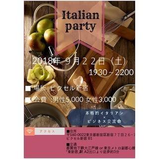 イタリアンパーティ×ビジネス交流会