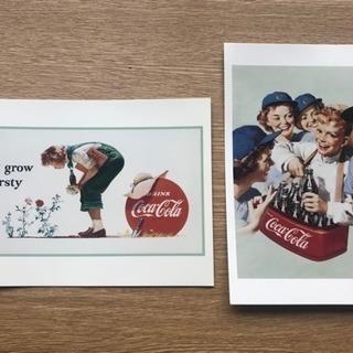 コカ・コーラ (Coca-Cola) ポストカード 2枚