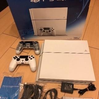 PS4 ホワイト コントローラーx2 充電器セット