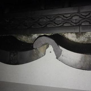 玄関の塀の瓦が割れて欠けてしまいました