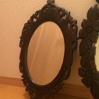 1,000円 昭和レトロ アンティークの壁掛け鏡 ウォールミラー B