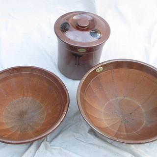 ☆石見焼 元重製陶所☆すり鉢・漬物甕☆無料
