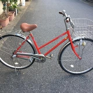 中古自転車赤3段ギア 27インチ