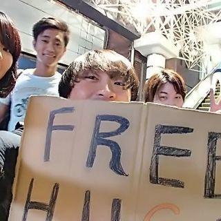 9月22日 渋谷駅前でフリーハグ仲間募集中☆