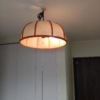 昭和レトロ 照明2点 竹製