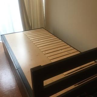シングルベッド、フレーム、折りたたみマット