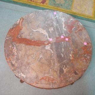 円形大理石天板のみ