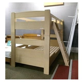 札幌 美品!【木製2段ベッド】高さ141cm タモ材 GRANZ/...