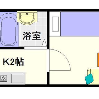【ビジタル大国3】3号タイプ!1Kタイプ!保証人も保証会社も不要!!
