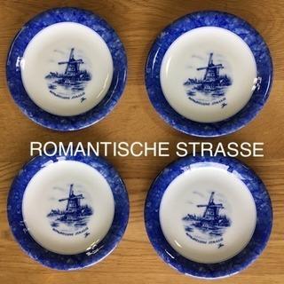 ROMANTISCHE STRASSE ケーキ皿(4枚セット)デ...