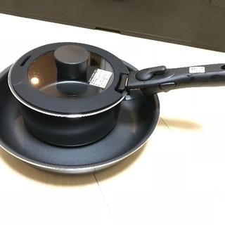 ニトリ 取っ手の取れるフライパン鍋セット