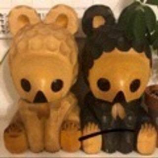 木彫りクマさんの置物、ペア
