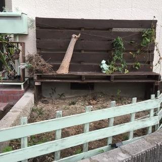 ラティス DIY ガーデニング用のベンチ兼ウォール 木製パレット使用