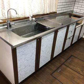 ★システムキッチン2700タイプ(ガスレンジ無し)浄水器付き 引...